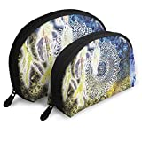 Waxdye Hippy Zen Yoga Big Dreamer Handy Cosmetic Pouch Clutch Makeup Bag.
