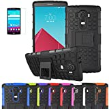 LG HEAVY DUTY STYLISH SHOCKPROOF CASE COVER WITH BACK STAND + FREE UK DELIVERY BY iPro (LG G4, BLACK SHOCKPROOF)