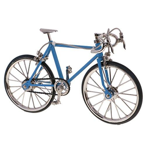 MagiDeal 1:10 Maßstab Legierung Rennrad Fahrrad Modell Spielzeug Sammlung - Hellblau