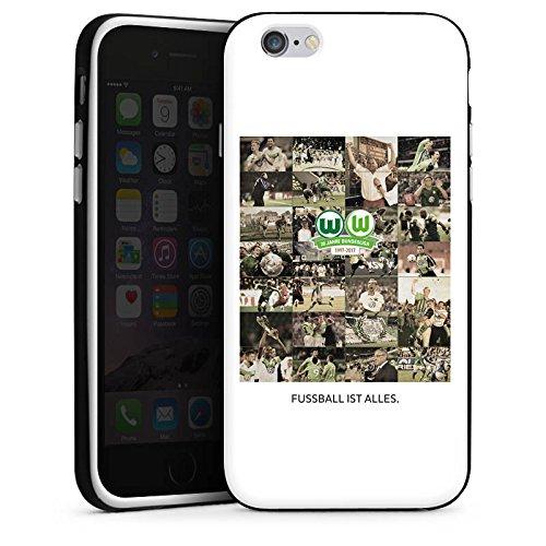 Apple iPhone X Silikon Hülle Case Schutzhülle Vfl Wolfsburg Bundesliga Fußball Silikon Case schwarz / weiß
