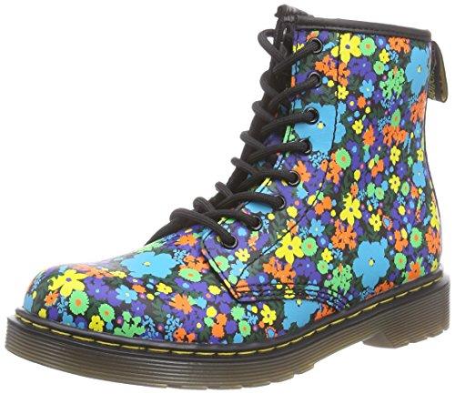 Dr. Martens  DELANEY Wanderflora, chaussures bateau filles - Noir - Noir, 28 EU