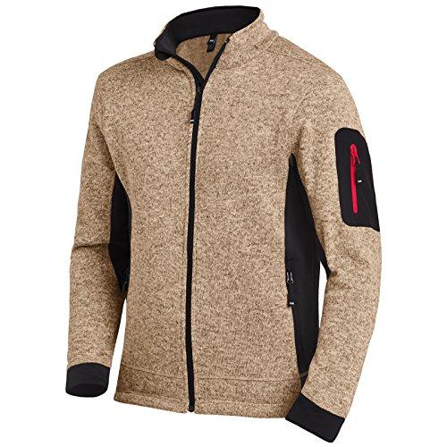 FHB Strickfleece Jacke Atmungsaktiv, Farbe:Khaki;Größe:XL