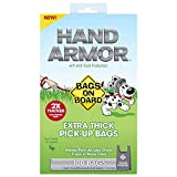 Bags on Board Extra Thick Hand Armour Dog Poop Tie-Handle Bags - 100 Bags