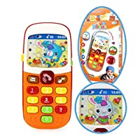 Musical Phone for Baby Musical Mobile Phone Toys for Children Designed Learning Toys Cartoon Music Phone Toys for 1 Year Toy for 1 Year Boy Baby Toys