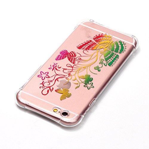 Voguecase® für Apple iPhone 7 4.7 hülle, Schutzhülle / Case / Cover / Hülle / TPU Gel Skin (Lace Blume) + Gratis Universal Eingabestift Fader Schmetterling