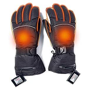 Massage-AED Elektrisch beheizte Handschuhe beheizte Handschuhe Männer Frauen Winter warme Handschuhe Isolierte Handwärmer für Indoor-Outdoor-Sportarten Skifahren