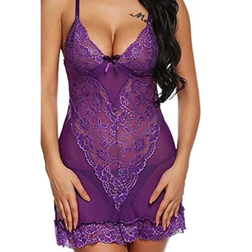 Damen Dessous Bodysuit Staresen Damen Reizwäsche Nachtwäsche Body Lingerie Hohl Einteiliger Pyjama Erotische Frauen Hohl Dessous Schritt Perspektive Unterwäsche Kleider