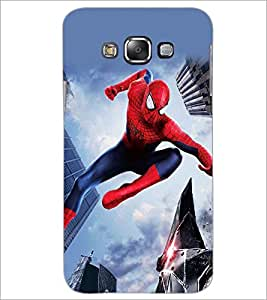 PrintDhaba Spiderman D-5611 Back Case Cover for SAMSUNG GALAXY E7 (Multi-Coloured)