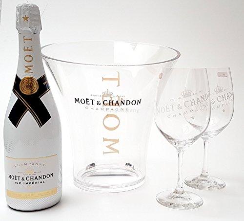 Moet & Chandon Ice Imperial Champagner 75cl (12{95d1e830fb910720b255a3049944d4be964ff6bc854c4a700fec28e4d7626cf6} Vol) + Flaschenkühler + 2x Gläser