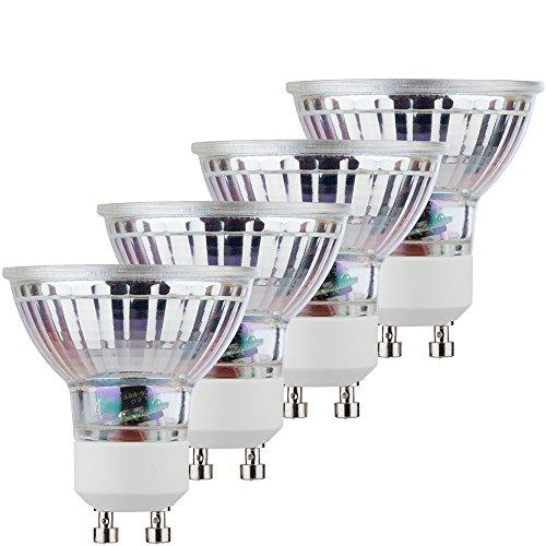 Lichter-gläser-reflektoren (MÜLLER-LICHT Retro-LED Reflektorlampe, ersetzt, Glas, GU10, 5 W, Silber, 5 x 5 x 5.3 cm, 4 Einheiten)