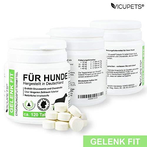 Vicupets® Gelenk Fit für Hunde | enthält Glucosamin und Chondroitin | Made in Germany | 120 Stück