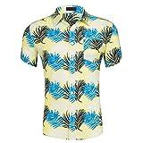 B-commerce 2019 Männer Boho Kurzen Ärmeln Strand Wind Druck Sommer T-Shirt Mode Baumwolle Weiche Taste Kragen Neck Top Shirt