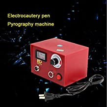 50W 2PC pirografía Pen + 10pcs hoja pirografía máquina multifunción pirografía máquina calabaza de madera pirografía Set