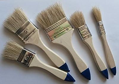 10 teiliges Heimwerker Maler-Pinsel-Set-Bedarf Flachpinsel für Lasur Farbe Anstrich jeder abgebildete Pinsel 2 mal im Lieferumfang vom Sachsen Versand von Sachsen Versand - TapetenShop