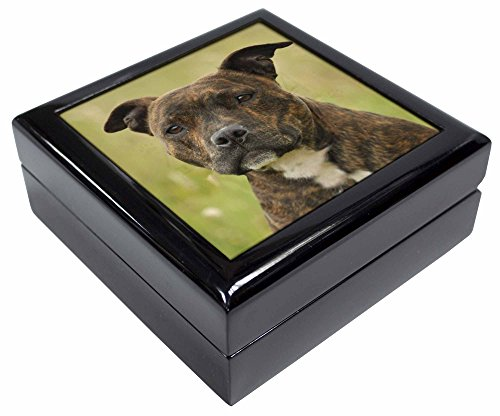 Advanta - Jewellery Boxes Staffordshire Bull Terrier Hund Andenken/Schmuck Box Weihnachten Geschenk (Bull Terrier Schmuck Hund)