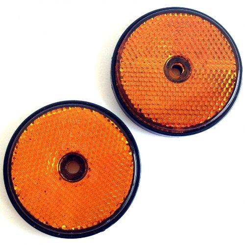 TFA 88202 Reflektor, zum Schrauben, 2 Stück, 60 mm Rund, Orange