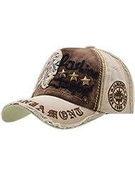 Algodón Gorras de Béisbol - Ajustable Gorra iParaAiluRy Unisex para Al aire libre, Deportes, De viaje - Parche de Letras Cómoda y Típica