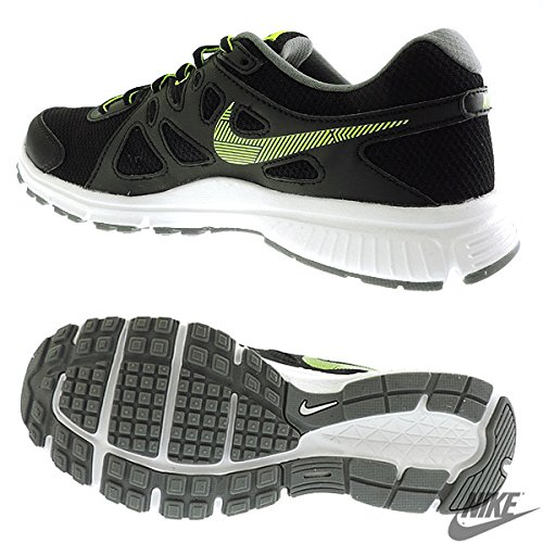 Nike Men's Black,Volt,Cool Grey and White Running Shoes-7 UK
