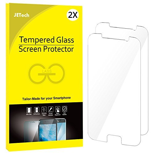 JETech schutzfolie für Samsung Galaxy S6, Gehärtetem Glas Panzerglas Displayschutzfolie, 2 Stück