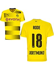 Puma BVB Borussia Dortmund Home Trikot 2017 2018 Heimtrikot mit Spieler Name Farbe Rode, Größe XL