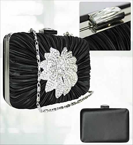 LeahWard® Damen Mode Desinger Qualität Unterarmtasche Damen Modisch Ausgehabend Geldbörse Handtaschen Schwarz