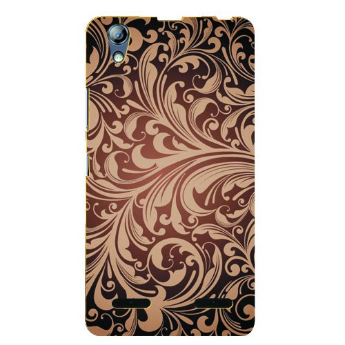 Kaira Brand High Quality Designer Soft silicon Back Case cover For Lenovo A6000 Mobile (Brownflower)