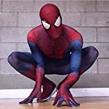 DSFGHE Spiderman Kleidung Cosplay Herren All-Inclusive-Overall 3D Anime Strumpfhose Bühnen Performance Party-Service,Red-XL
