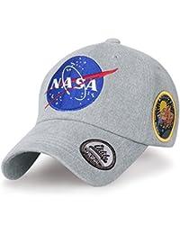 104e1c02f84 ililily NASA Meatball Logo Embroidery Baseball Cap Apollo 13 Patch Trucker  Hat