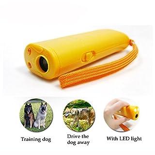 A-szcxtop Hundetrainingsgerät mit LED-Taschenlampe, leistungsfähiges Ultraschall-Abschreckungsgerät für Hunde, Schützen Sie sich vor aggressiven Hunden oder gewöhnen Sie Ihrem Hund Bellen und andere unerwünschte Verhaltensweisen ab.