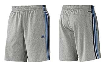 Adidas Essentials 3-Stripes Short pour homme ClimaCool Gris/Bleu 50 Gris