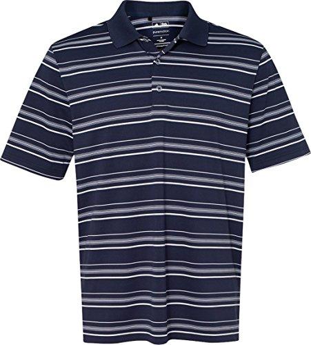 Adidas Herren Pure Motion Textured Stripe polo-a123 Navy / Weiß