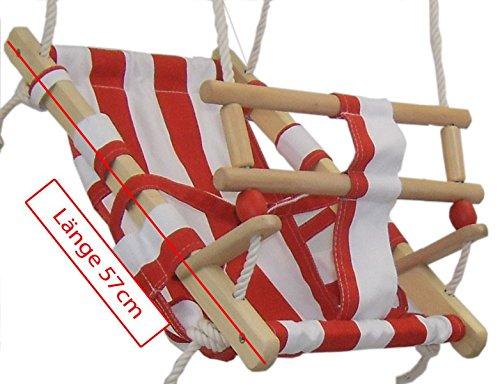 Babyschaukel Babyliegeschaukel Schaukelsitz Babysitz Schaukel Babyhängematte zum Aufhängen, Babyschaukel:rot/weiß