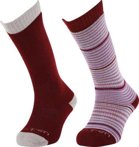 Lorpen Ski/Snowboard Italienisch Wandersocken TCXTM Wolle Socken 2Pack, unisex damen, burgunderfarben (Socken Snowboard Wolle Italienischer)