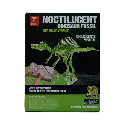 EZ Life 3D Noctilucent Dinosaur Fossil Excavation Toy Kit - Triceratops Skeleton - Glow in Dark - Fun with Education - Science Kit - Dino Excavation Kit for Kids - Birthday Gift Toys - Return Toys