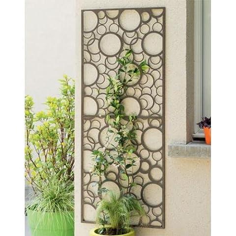 Nortene 2012056 0.6 x 1.5 m Metal Panel with Circle Motif - Brown