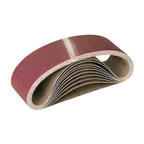 Preisvergleich Produktbild 10 SANDERs Schleifbänder / Schleifband für Handbandschleifer - 533 x 75 mm - Korn 80