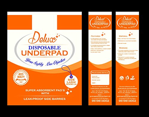 DELUXE Underpads Sheet 60 x 90Cms (10's)
