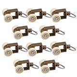 MagiDeal 10 Stück / Packung Gardinengleiter Gardinenschiene Haken Sliding Roller Gardinen und Rollo Zubehör - Stil 3 20mm