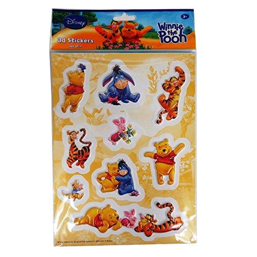 Eurosales B.V Disney Bunte 3D Dekoration Aufkleber - Winnie The Pooh mit Seinen Freunden