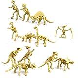 Lot de 12pcs Figurine Fossile de Dinosaure Squelette