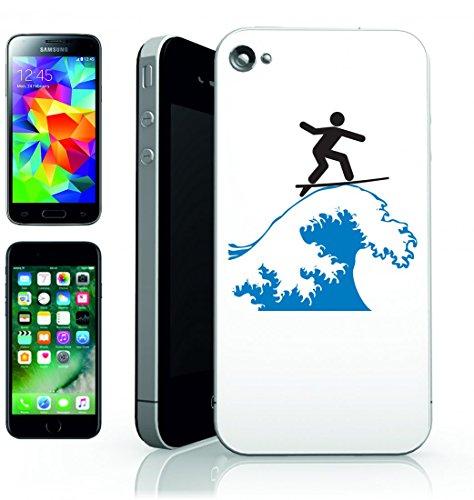 Smartphone Case Wave Riding di Navigare autista di surf a onda del mare di divertimento della tavola della Spiaggia di Surfer di equilibrio di oceano per Apple Iphone 4/4S, 5/5S, 5C, 6/6S, 7& Sams