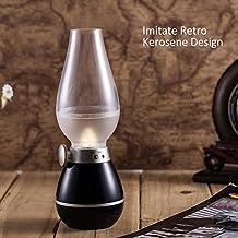 Lámpara clásica retro, lámparas de queroseno, lámpara de mesa innovador / lámpara de pie / lámpara de la noche con la batería incorporada