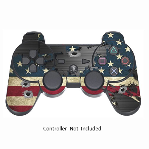 Sony PS3 Controller Sticker - Aufkleber Schutzfolie Skin für Playstation DualShock 3 Wireless Controller - Battle Torn Stripes