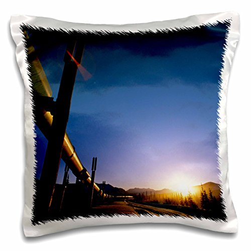 Danita Delimont - Alaska - Alaska, Brooks Range, Trans-Alaska Oil Pipeline - US02 HRO0018 - Hugh Rose - 16x16 inch Pillow Case (pc_87502_1) (Range Trans-alaska-pipeline Brooks)
