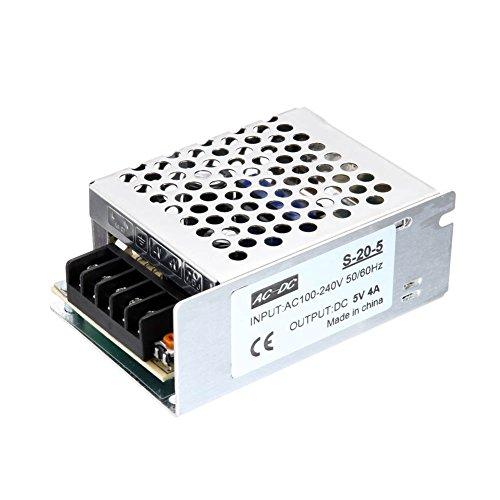Rokoo Schaltnetzteil-Adapter-Metallkasten Wechselstrom zu DC 5V 4A 20W Spannungs-Transformator für elektrische Maschine -