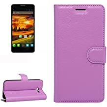 Para Alcatel One Touch Idol X / 6032 / OT-6032 Patrón de textura Litchi horizontal Flip PU funda de cuero con el titular y ranuras para tarjetas y cartera by diebelleu ( Color : Purple )