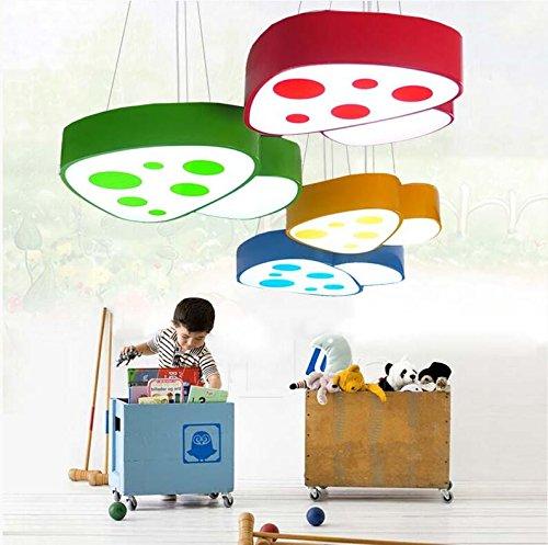 GQLB Cute Pilz Kids 24W Kronleuchter Kindergarten Lichter Männer und Frauen Zimmer auf der Freizeitpark Kinder leuchten 48 * 46 cm, (Roter Pilz Kind Hut)