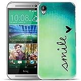 Conie PC5749 Picture Case Kompatibel mit HTC Desire 728G, Rückschale mit Motiven Silikon TPU Backcover für Desire 728G Bumper Motiv Smile