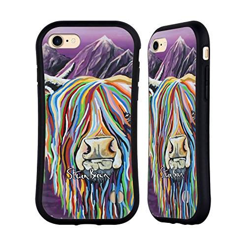 Ufficiale Steven Brown Katie Mccoo Mucca Delle Montagne 2 Case Ibrida per Apple iPhone 7 / iPhone 8 Wullie & Maggie