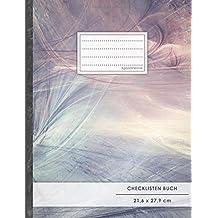 """Checklisten-Buch: DIN A4 • 70+ Seiten, Soft Cover, Register, """"Achtsamkeit"""" • #GoodMemos • 18 Checkboxen + Platz für Notizen/Seite (inkl. Register mit Datum uvm.)"""